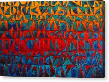 Red Sails At Sunset II Canvas Print by Bernard Goodman