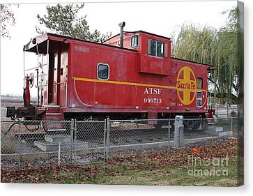 Red Sante Fe Caboose Train . 7d10329 Canvas Print