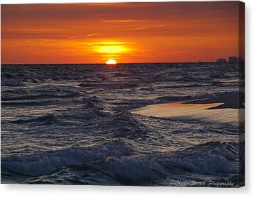 Red Skies At Night Canvas Print by Charles Warren