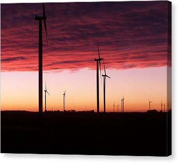 Red Skies Canvas Print by Jim Finch