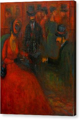 Red Soiree  Canvas Print