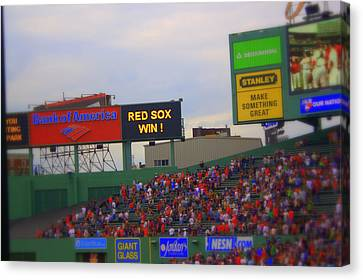 Red Sox Win Canvas Print by Greg DeBeck