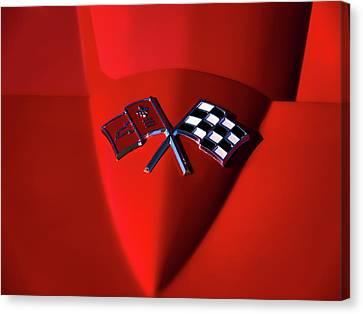 Red Stingray Badge Canvas Print by Douglas Pittman
