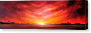 Canvas Print - Red Sunset by Jan Farthing