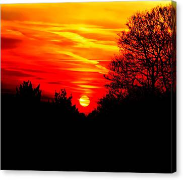 Red Sunset Canvas Print by Jasna Buncic
