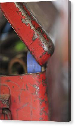 Canvas Print featuring the photograph Red Toolbox. by Carole Hinding