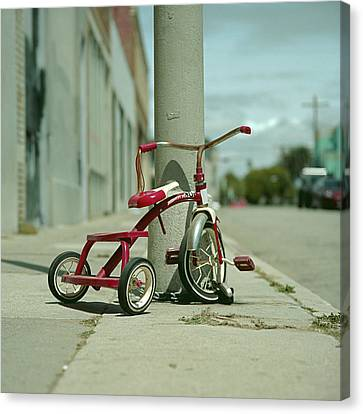 Tricycle Canvas Print - Red Tricycle by Eyetwist / Kevin Balluff