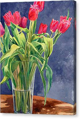 Red Tulips Canvas Print by Peter Sit