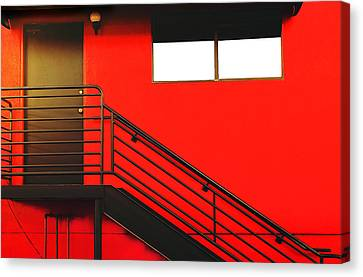 Red Wall Canvas Print