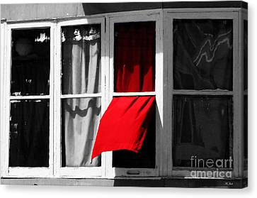 Red Wave Canvas Print by Ms Judi