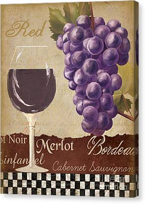 Red Wine Collage Canvas Print