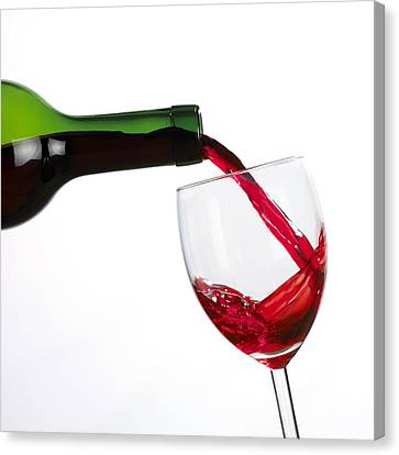 Red Wine Canvas Print by Mark Sykes