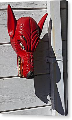 Red Wolf Mask Canvas Print by Garry Gay