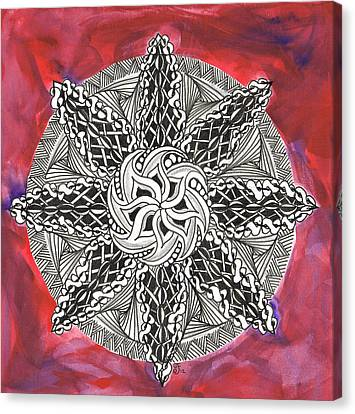 Red Zendala Canvas Print