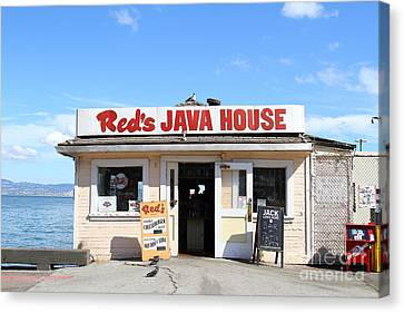Reds Java House At San Francisco Embarcadero . 7d7709 Canvas Print by Wingsdomain Art and Photography