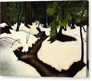 Redwood Walk Canvas Print by Jane Yuen Corich