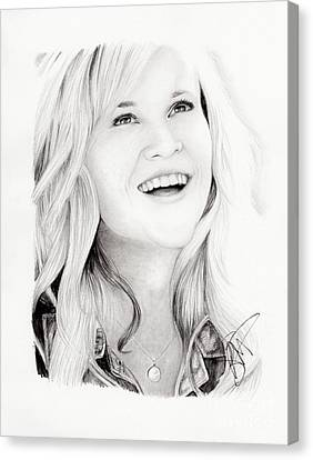 Reese Witherspoon Canvas Print by Rosalinda Markle