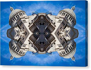 Reflecting Boston In My Mind Canvas Print by Val Black Russian Tourchin