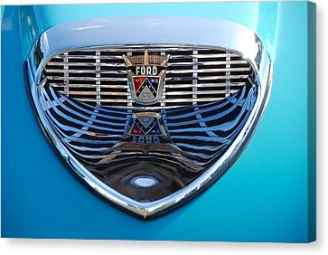 Canvas Print featuring the photograph Reflecting Ford by John Schneider