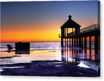 Reflecting The Night Canvas Print by Pixel Perfect by Michael Moore