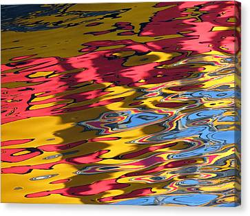 Canvas Print featuring the photograph Reflection Abstraction by Darleen Stry
