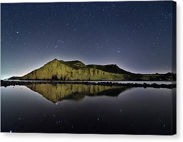 Reflection In Lake Canvas Print by Ser-y-star