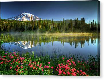 Reflection Lakes Canvas Print by William Lee