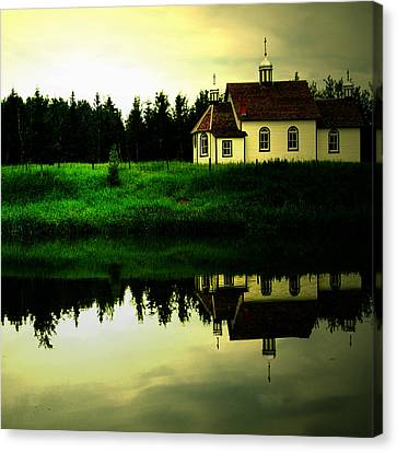 Reflection Of Faith  Canvas Print by Empty Wall