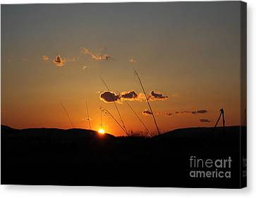Canvas Print featuring the photograph Reflections At Dusk by Everett Houser