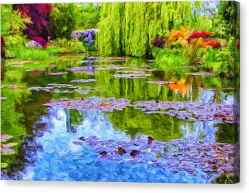 Reflections At Giverny Canvas Print by Dominic Piperata