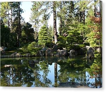 Reflections In A Japanese Garden Canvas Print