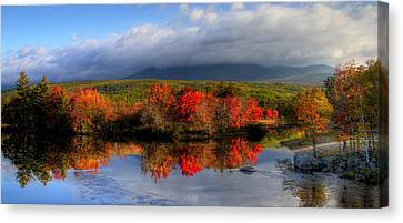Reflections In Maine Canvas Print by Sharon Batdorf