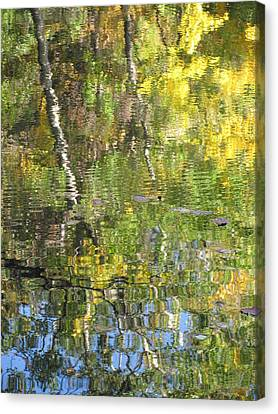 Reflections In Paradise 1 Canvas Print by Anita Burgermeister