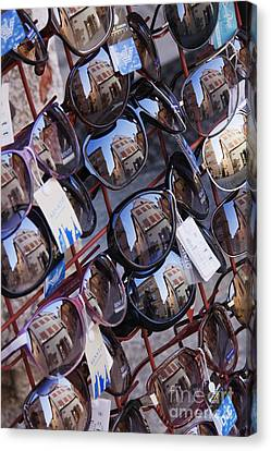 Reflections In Sunglasses Canvas Print by Jeremy Woodhouse