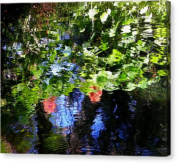Dunnellon Canvas Print - Reflections Of Fall In The Spring by Judy Wanamaker