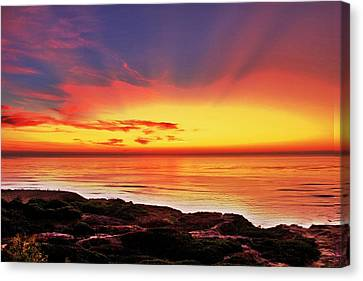 Reflections Of The Setting Sun Canvas Print