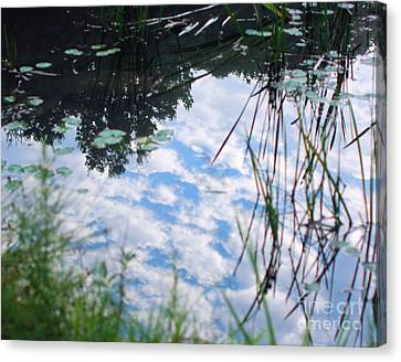 Reflections Of The Sky Canvas Print by Smilin Eyes  Treasures