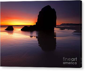 Reflections Of The Tides Canvas Print by Mike  Dawson