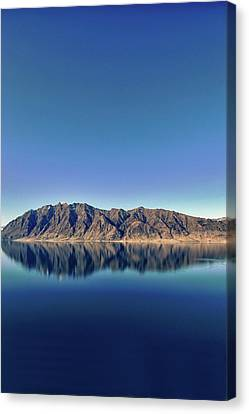 Reflections On Lake Hawea Canvas Print by Verity E. Milligan