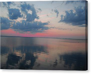 Reflections On The Sound Canvas Print by Linda Mesibov