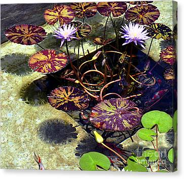 Canvas Print featuring the photograph Reflections On Underwater Life by Clayton Bruster