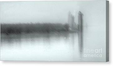 Reflections Through The Fog Canvas Print by Rod Wiens