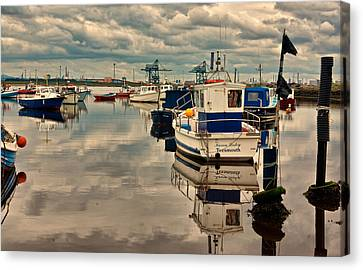 Paddys Hole Canvas Print - Reflections by Trevor Kersley