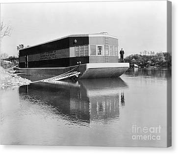 Refrigerated Barge, C1935 Canvas Print by Granger