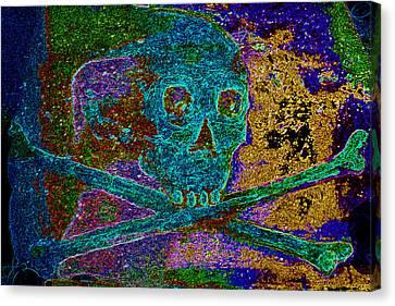 Canvas Print - Regal Skull And Crossbones  by Warren Clark