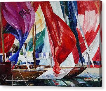 Regatta Break Canvas Print by Barbara Pommerenke