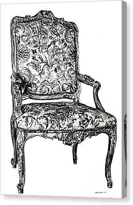 Regency Chair Canvas Print