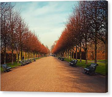 Park Benches Canvas Print - Regent Park by Erikacatanese©
