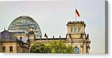 Reichstag Dome Canvas Print by Jon Berghoff
