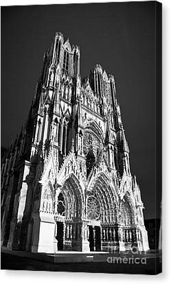 Reims Cathedral Canvas Print